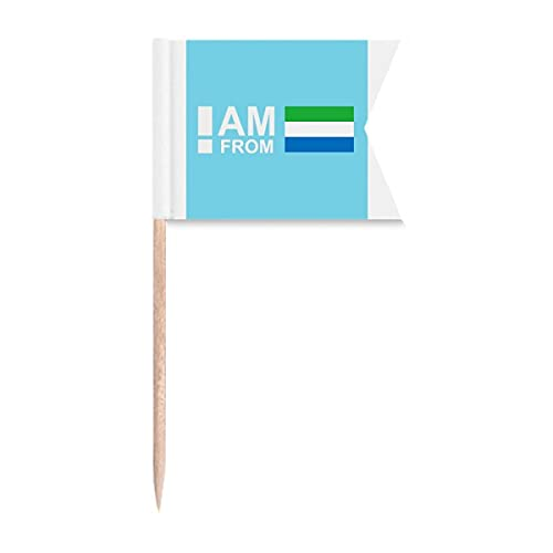 I Am from Sierra Leone Art Deco Geschenk Mode Zahnstocher Flaggen Kennzeichnung für Party Kuchen Lebensmittel Käseplatte