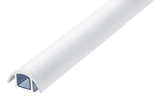 Mini Design Aluminium Kabelkanal für z.B. Lautsprecher - 30mm breit von ALUNOV (Länge: 100cm, Weiss Matt)