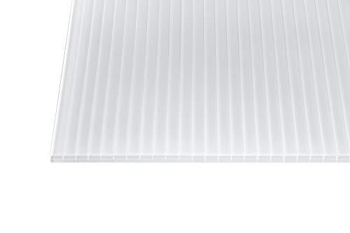 Polycarbonat Stegplatten Hohlkammerplatten weiß-opal 16 mm (1200 mm Breite) (2000 x 1200 x 16 mm)