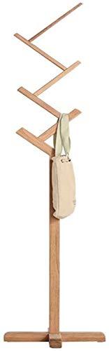 Perchero Madera Maciza Dormitorio Moderno Simple Roble Blanco Tipo Z Hogar Estante Colgante Vertical para Ropa