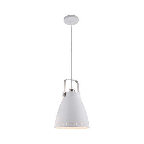Hängelampe Esszimmer Weiß Hängeleuchte Industrial Esszimmerlampe (Industrie Design, Pendellampe, Küchenlampe, 26,5 cm, Höhe 127 cm)