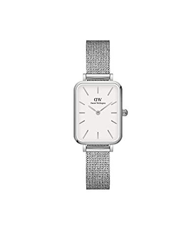 Daniel Wellington Reloj Quadro Sterling, Pulsera de malla de plata, 20x26mm