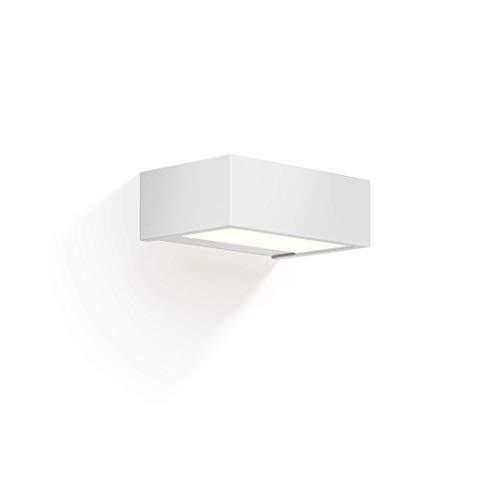 rechteckige, dimmbare LED-Wandleuchte BOX 15 N LED von Decor Walther (Weiß matt)