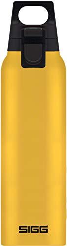 SIGG Hot & Cold ONE Mustard Thermo Trinkflasche (0.5 L), schadstofffreie und isolierte Trinkflasche, einhändig bedienbare Thermo-Flasche aus Edelstahl