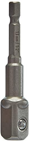 Wolfcraft 2414000 2414000-1 Varilla de adaptación para Casquillos 13 mm (1/2') para taladradora y Atornillador, 1,2cm