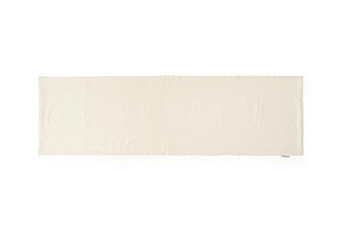 COMODO 透けにくい厚生地仕様の無地抱き枕カバー サイドファスナータイプ 被せやすい横ファスナータイプのだき枕カバー (160cm x 50cm タイプ, 生成色)