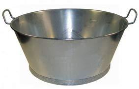 Wurko - Baño Chapa Galvanizada 40 cm, 14 litros