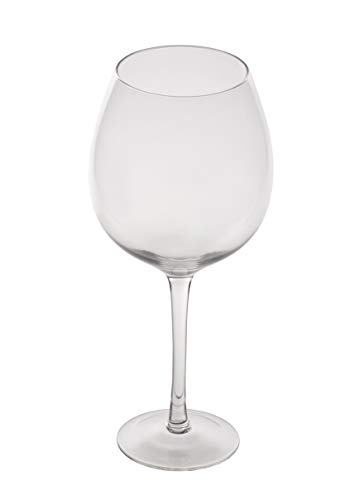 Weinglas XL – 34oz Drinkware 1 Flasche Weinglas, fasst volle Flasche 980ml Wein, übergroßes Riesen-Trinkglas, Geburtstag, Urlaub, Gag Geschenke, 25,5 cm hoch