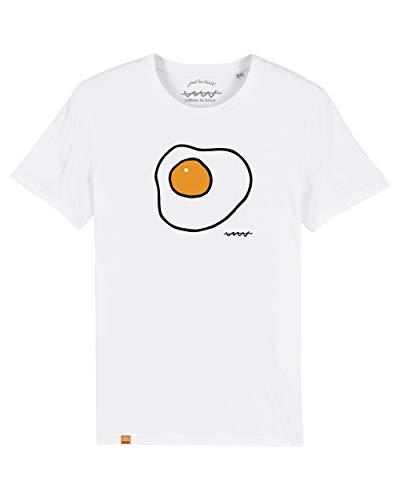 Camiseta Callate La Boca Huevo Frito Blanca (M)