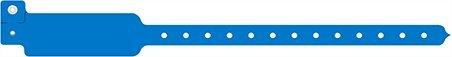 ID-ACC. 100 Stück Kontrollbänder aus PVC 3-lagig - Nicht übertragbar (hellblau)