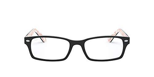 Ray Ban Brillengestell RX5206 5014 52-18 schwarz/weiß/rot