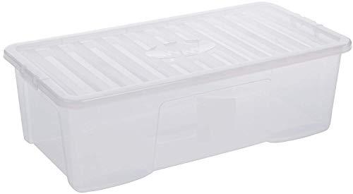 Wham Crystal Lot de 5 bo/îtes de Rangement avec Couvercle Transparent 80 l