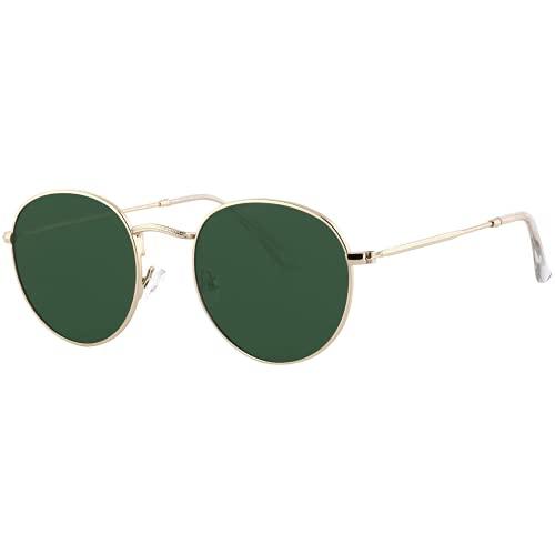 EFE Gafas de Sol Deportivas Polarizadas para Mujeres Hombres Neutrales Diseñador Redondas de Espejo Polaroid Contra los Rayos Ultravioletas Verde