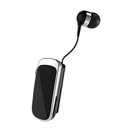 XO Auricolari Bluetooth Smartphone Con Clip - Filo Retrattile In Ear - Cancellazione Attiva del Rumore Avviso a Vibrazione integrata - Bluetooth 5.0