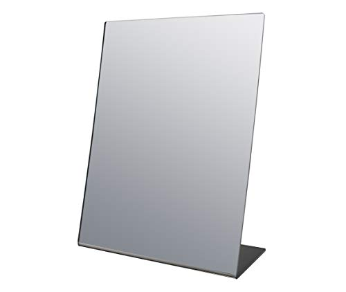 """Marketing Holders Premium Easel Mirror Acrylic Stand 12""""w x 18""""h Slant Back Make up Portable Durable Table Top Mirror"""