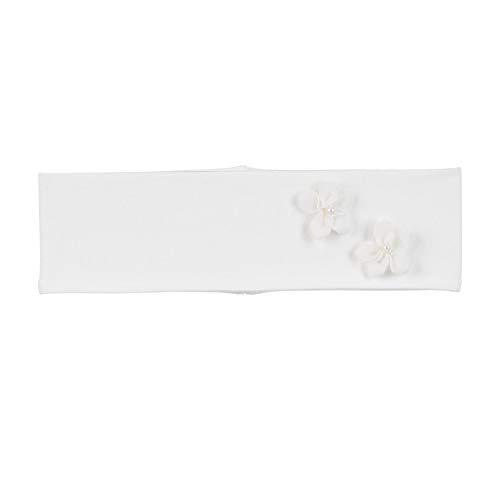 Sterntaler Stirnband für Mädchen mit edlen Blümchen, Alter: 9-12 Monate, Größe: 47, Naturfarben (Ecru)