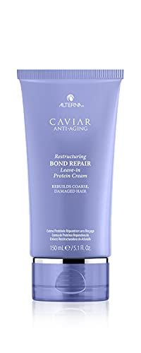 Alterna Caviar Anti-Aging Restructuring Bond Repair Leave-in Protein Cream, 5.1 Fl Oz | Rebuilds Coarse, Damaged Hair
