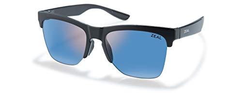 Zeal Optics Unisex-Erwachsene Palisade Einheitsgröße Matt Schwarz/Polarized Horizon Blue Lens