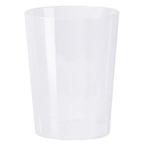 Monteluz - Pack de 20 Unidades Vasos de Plástico Duros Irrompibles Reutilizables...