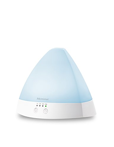 Medisana AD 630 Aroma Diffusor für Duftöle mit LED Wellness Licht in 6 Farben, Timer, Ultraschall-Technologie, 80ml