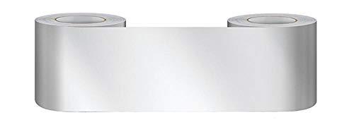 Borde del papel pintado Espejo de plata Auto Adhesivo del Papel Pintado del PVC Cenefa autoadhesiva para decoración de pared de cocina...