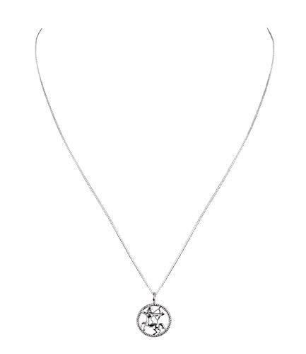 SIX Damen Halskette, Gliederkette, Sterling Silber, 925er Silber, Gliederkette, Horoskop, Sternzeichen, Schütze, silber (386-267)