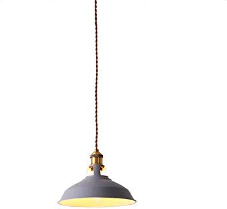 SGWH  Nordeuropa Einzelkopf Eisen Pendelleuchten Kreative Minimalistische Moderne Restaurantlampe Cafe Bar Nacht Macaron Topf Abdeckung Decken Kronleuchter Lampe (Farbe  Grau)