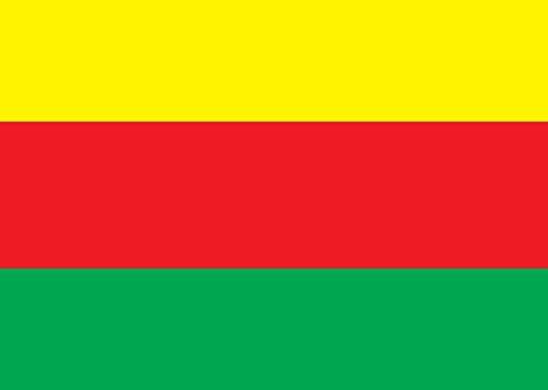 magFlags Flagge: Large Syrian Kurdistan | Movement for a Democratic Society TEV-DEM in Rojava | ALA Tevgera Civaka Demokratîk a Rojavayê Kurdistanê TEV-DEM | Querformat Fahne |