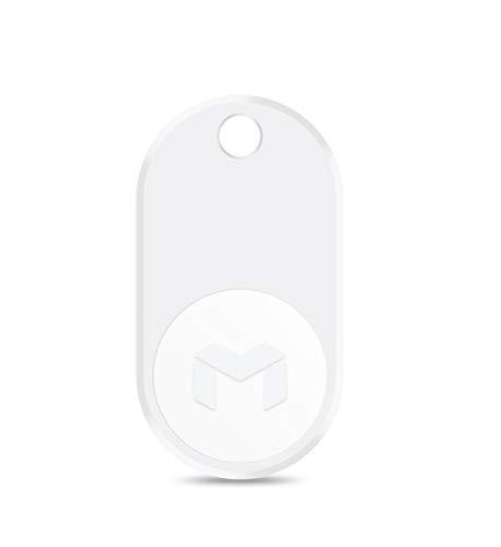 MYNT ES - Rastreador con Bluetooth para Encontrar Tus Objetos de Valor, buscador de teléfono, Equipaje, localizador de Llaves y Monedero, Alarma antipérdida, Individual, Color Blanco