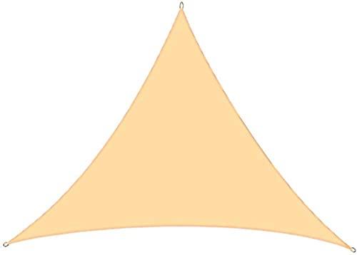 SYCEZHIJIA Sun Sail Triangle Impermeable Sol Protection y protección UV Shade Navega para el jardín del Patio al Aire Libre (2.4 m x 2.4 m x 2.4 m Beige)-2m * 2m * 2m_de Color Crema 0415