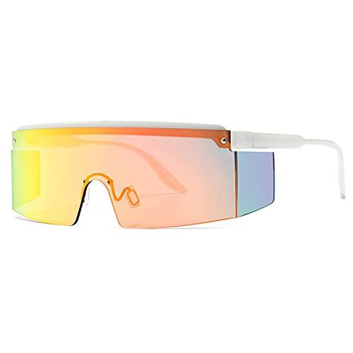 LUOXUEFEI Gafas De Sol Gafas De Sol De Media Montura Para Hombre Con Montura Sin Montura, Gafas De Sol Cuadradas Con Espejo Para Mujer