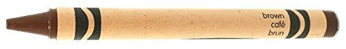 50 Brown Crayons Bulk - Single Color Crayon Refill - Regular Size 5/16' x 3-5/8'