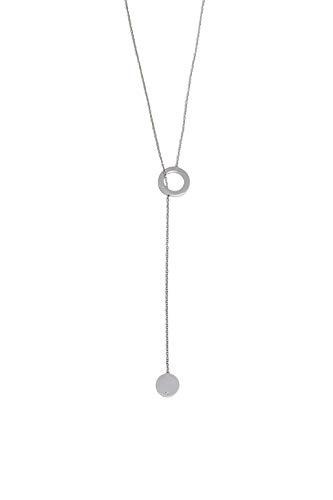 Esprit ESNL00492170 Damen Collier Loop Edelstahl Silber Weiß Glas 70 cm