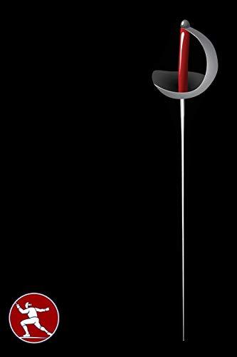 FECHTEN - PUNKTRASTER NOTIZBUCH: 6x9 Zoll (ähnlich A5 Format) Merkbuch mit Fecht Ausrüstung Schwert/Säbel/Degen Cover tolle Geschenkidee für Mann Frau Kind