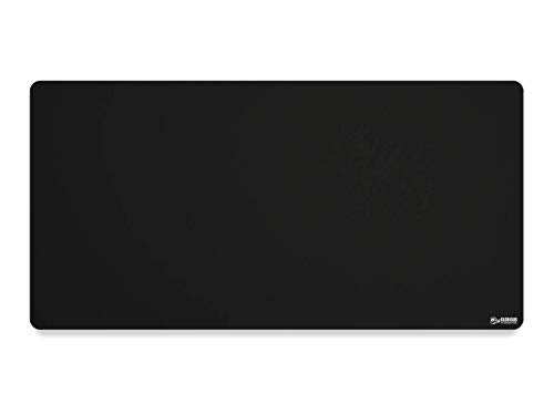 """Glorious XXL Extended Gaming Mouse Mat/Pad - Large, Wide (XXL Extended) Black Cloth Mousepad, Stitched Edges 