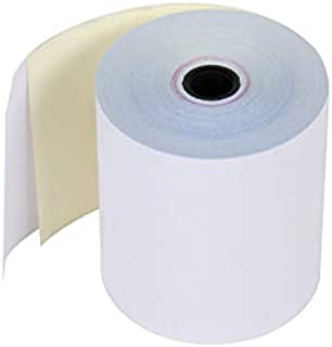 Carbonless 2 Ply POS Kitchen Receipt Paper , 3 Inches x 90 Feet, White/Canary – 1 BOX of 10 Rolls – FSC Certificacion