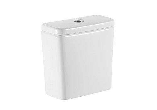 Roca A341990000 Colección Debba - Cisterna doble descarga, alimentación lateral, color blanco, 4.5/ 3l