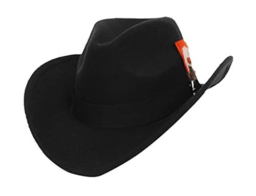 GEMVIE Sombrero Fedora de Fieltro para Hombre y Mujer Sombrero Panama de Invierno
