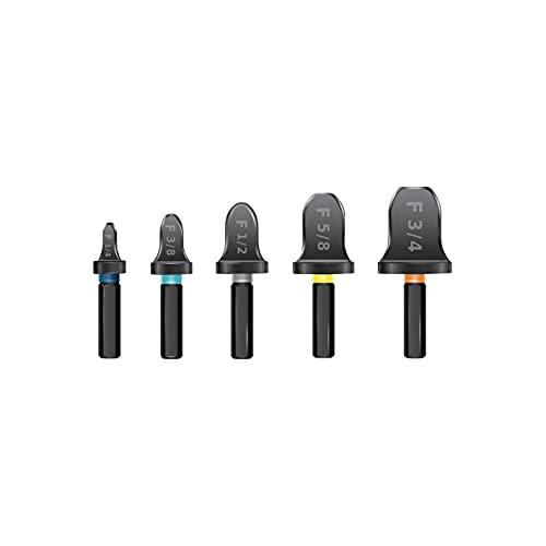 Abocardador SPIN de alta temperatura para taladro. 5 piezas.