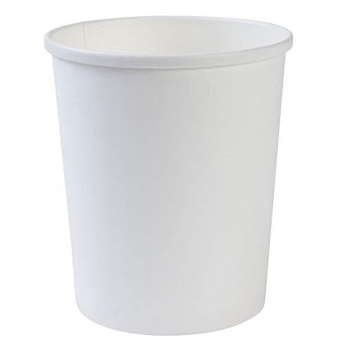 BIOZOYG Bio Einweg-Becher Speisebecher Papp-Becher to Go weiß I Kompostierbare Becher mit PLA Innenbeschichtung Suppen-Becher to Go Einweg Eisbecher Pappe I 25 stabile Karton-Becher 800 ml rund