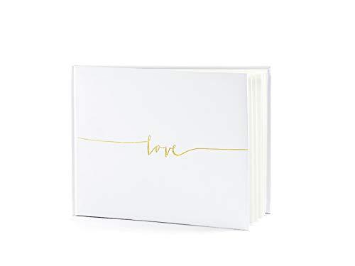 Libro de visitas Love (24 x 18.5 cm) - Blanco roto / Dorado