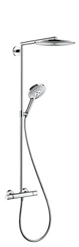 hansgrohe Showerpipe Raindance Select chrome with head shower Raindance Air 1jet 300mm