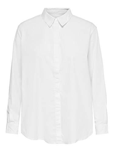 ONLY Damen ONLBETTY Life LS DNM Shirt QYT Top, White, 38