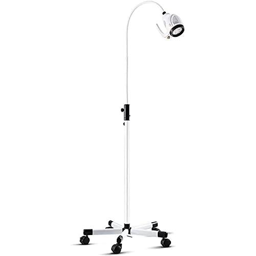 Lámpara de luz LED para examen médico de 21 W, tipo de soporte quirúrgico móvil, lámpara sin sombras, lámpara de iluminación auxiliar para pacientes ambulatorios, luz para examen bucal dental