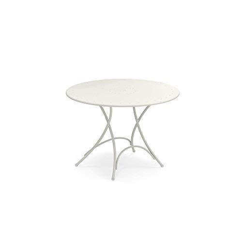 Pigalle runde Tisch klappbar Ø cm. 105 code 904 matt weiss fabre cod. 23