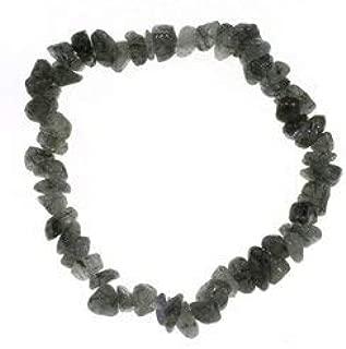 CrystalAge Tourmalinated Quartz Gemstone Chip Bracelet
