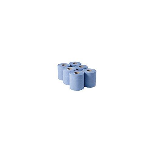 Whitebox Classeur cbl290s de rouleau à dévidage central, 288 M x 180 mm, épaisseur, bleu (Lot de 6)