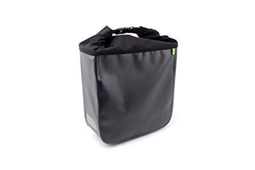 Racktime Unisex– Erwachsene Donna Fahrradlenkertasche, schwarz, 1size