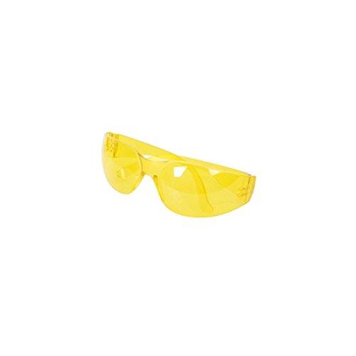 Silverline 309636 Schutzbrille mit UV-Schutz, yellow