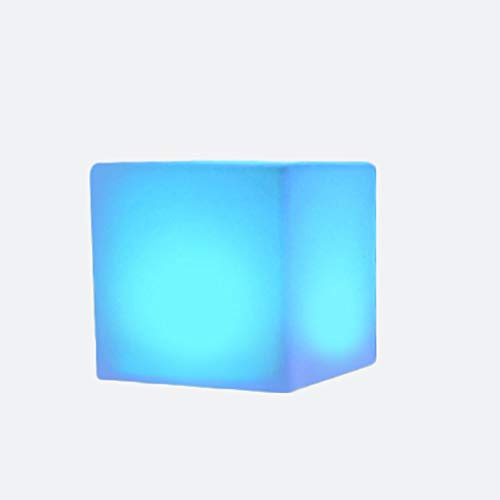 Fiesta de verano creativo colorido taburetes cube silla luz recargable led luces taburete al aire libre patio lámpara interior noche para casa jardín decoración color cambiante mesa lado dormitorio pa